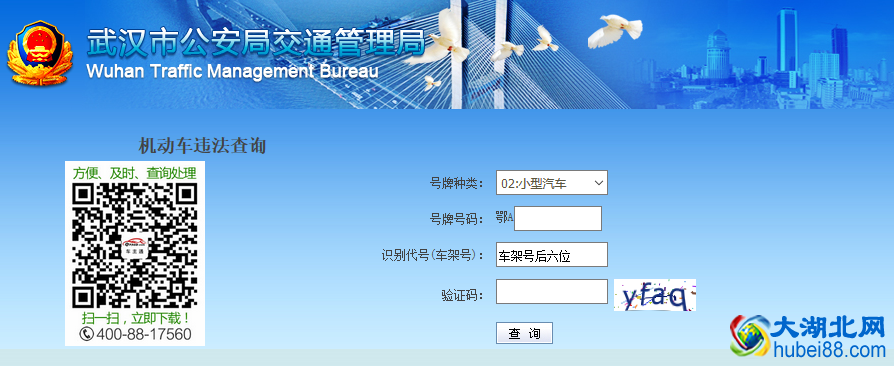 武汉交通违章查询系统