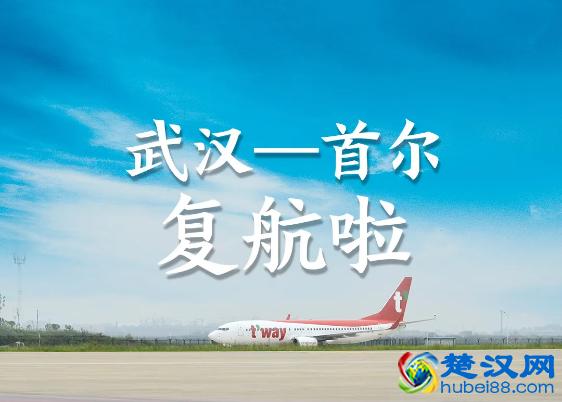 武汉至首尔国际定期客运航线复航,每