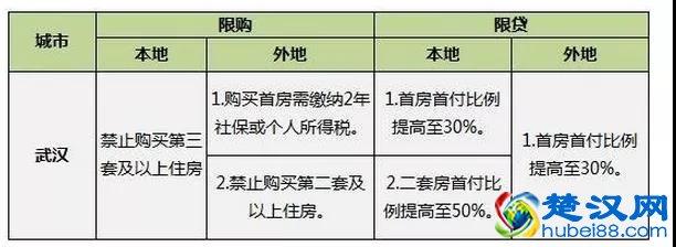 2020年武汉限购政策,武汉各类不同人群