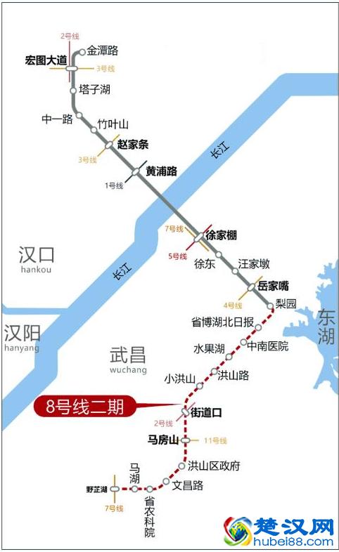 武汉地铁8号线二期什么时候才能开通?预