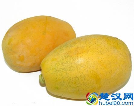 有斑点的木瓜